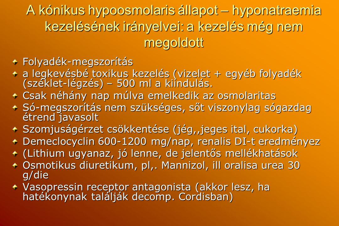 A kónikus hypoosmolaris állapot – hyponatraemia kezelésének irányelvei: a kezelés még nem megoldott