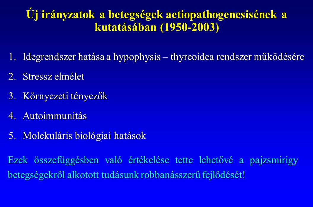 Új irányzatok a betegségek aetiopathogenesisének a kutatásában (1950-2003)