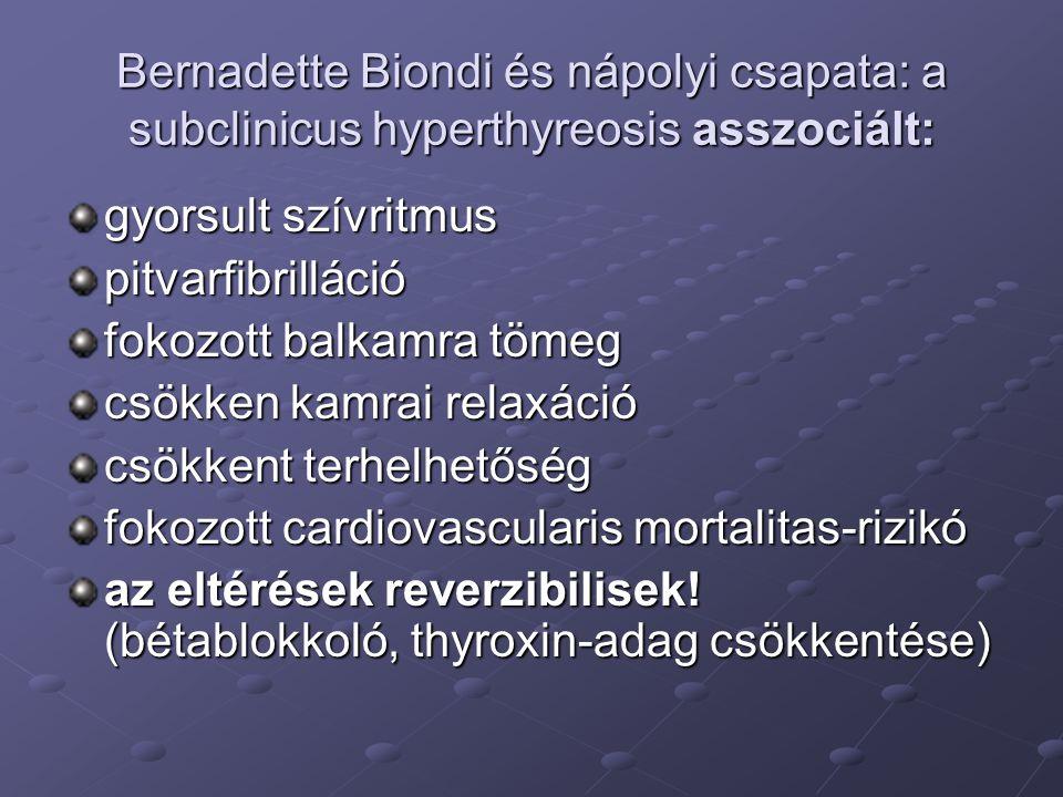 Bernadette Biondi és nápolyi csapata: a subclinicus hyperthyreosis asszociált: