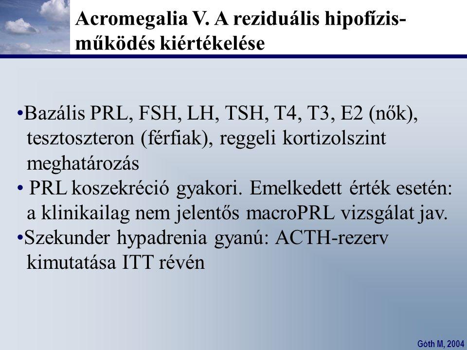 Acromegalia V. A reziduális hipofízis-
