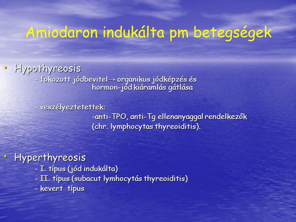 Amiodaron indukálta pm betegségek