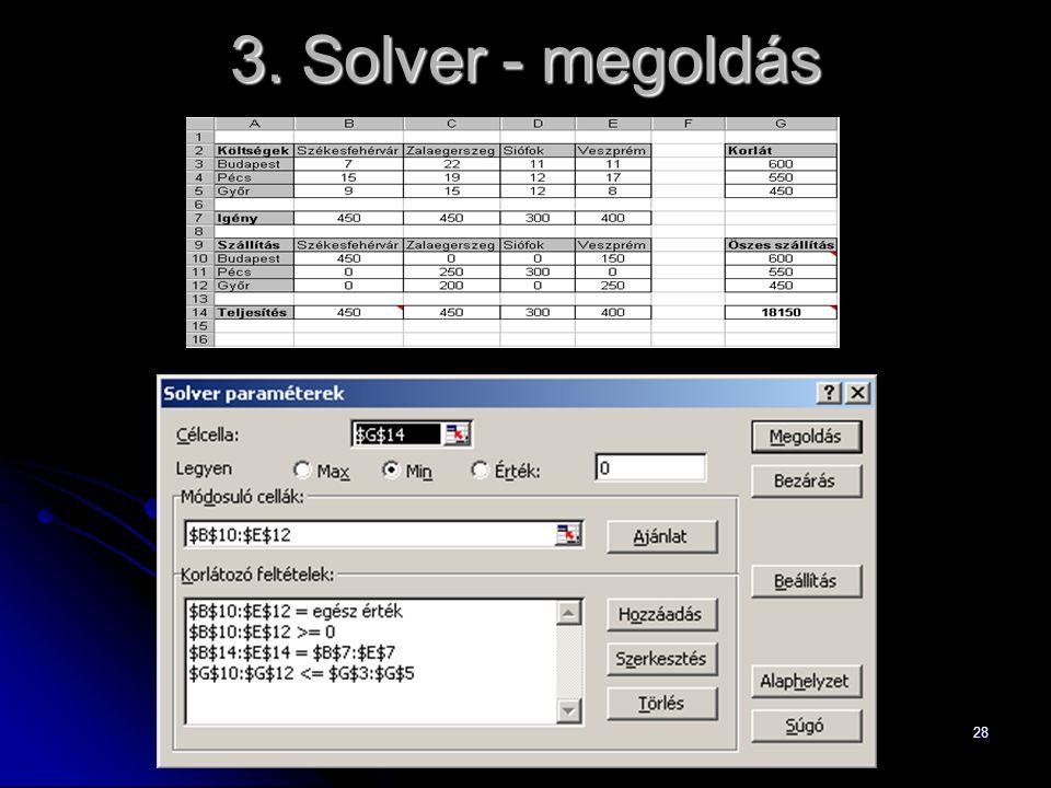 3. Solver - megoldás