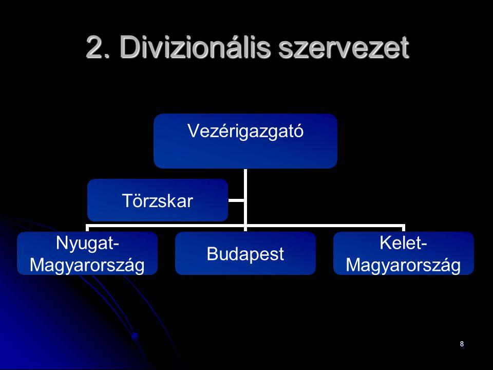 2. Divizionális szervezet