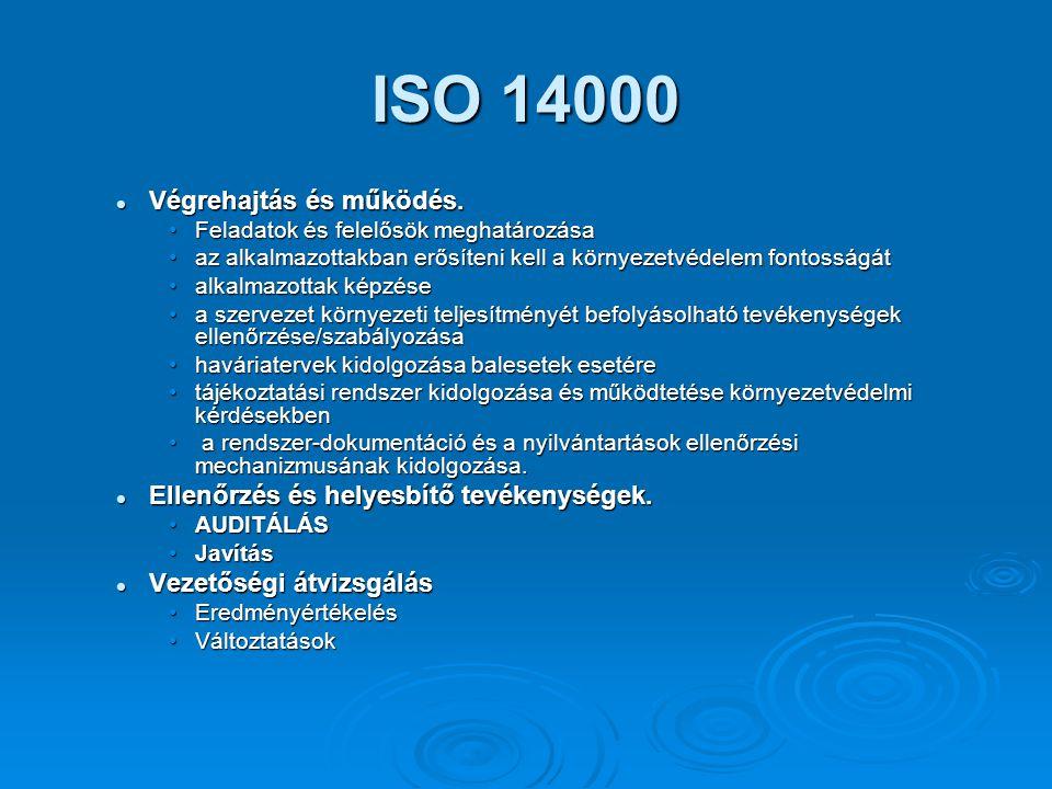 ISO 14000 Végrehajtás és működés.