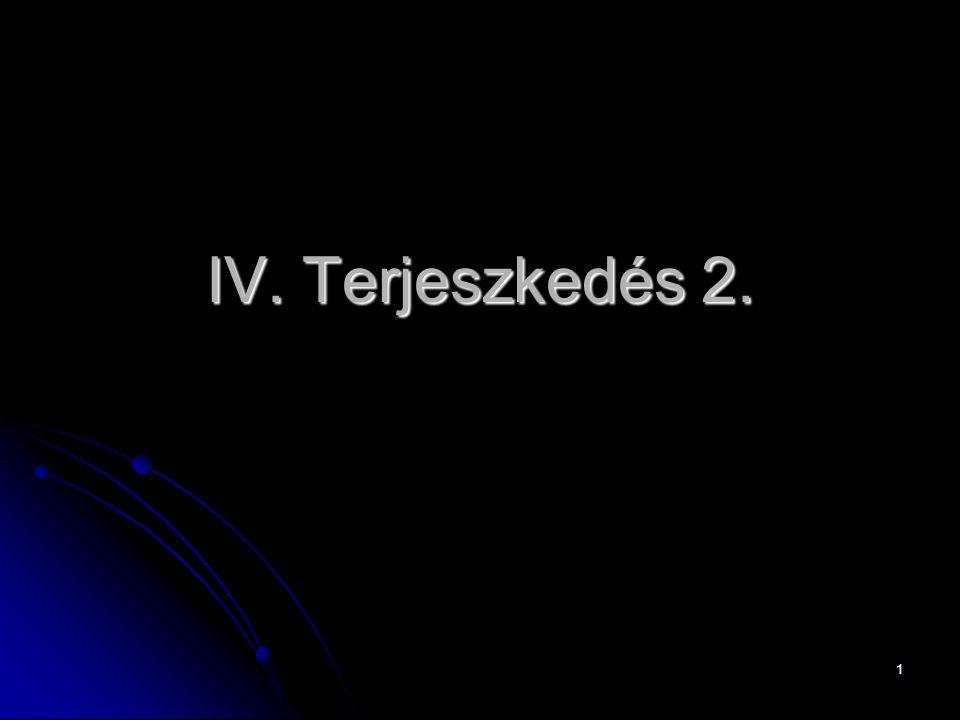 IV. Terjeszkedés 2.