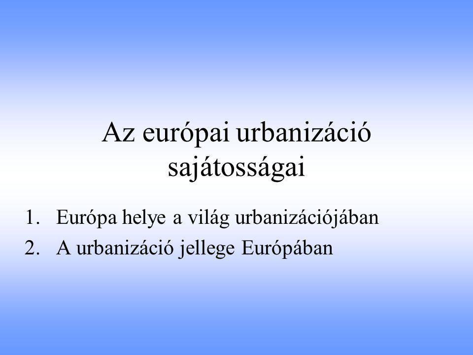 Az európai urbanizáció sajátosságai