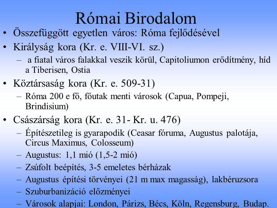 Római Birodalom Összefüggött egyetlen város: Róma fejlődésével