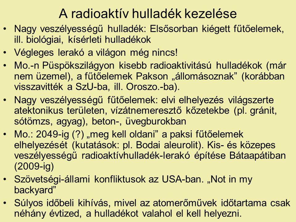 A radioaktív hulladék kezelése