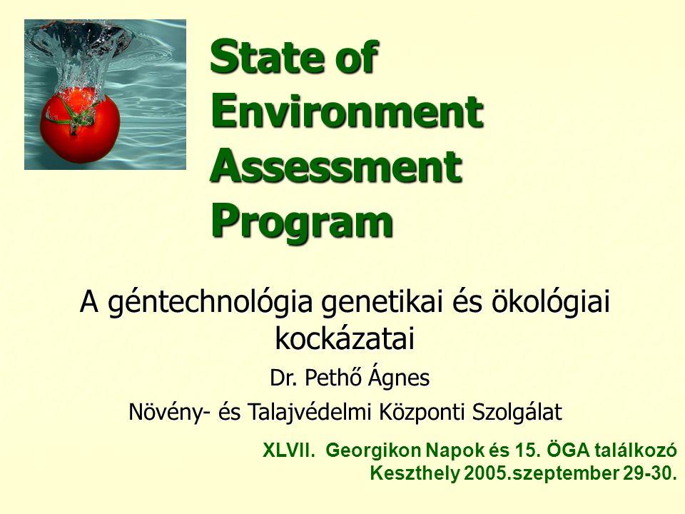 State of Environment Assessment Program
