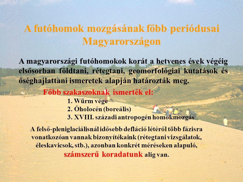 A futóhomok mozgásának főbb periódusai Magyarországon