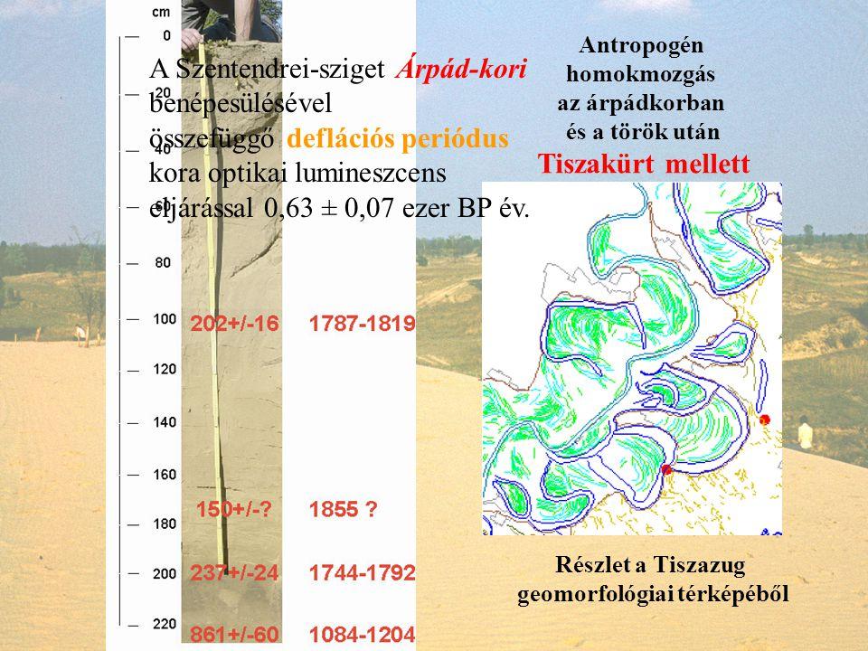 geomorfológiai térképéből