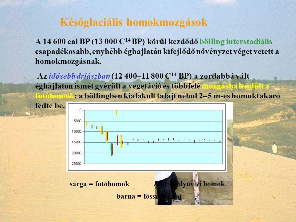 Későglaciális homokmozgások