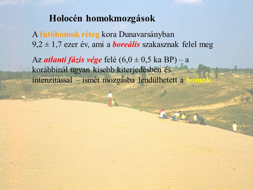 Holocén homokmozgások
