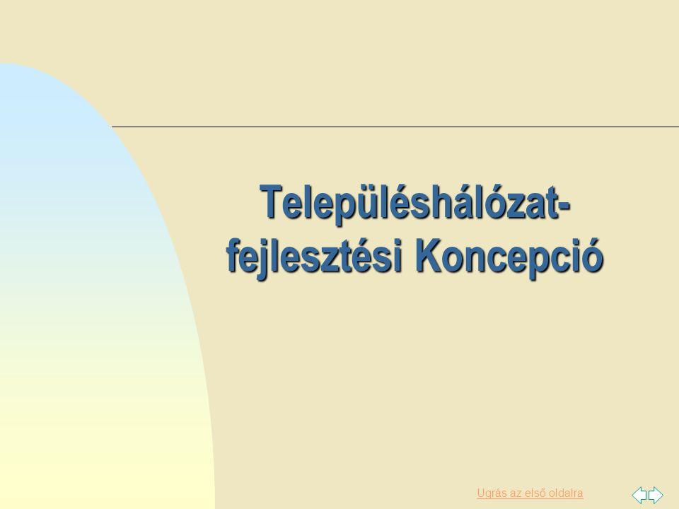 Településhálózat-fejlesztési Koncepció