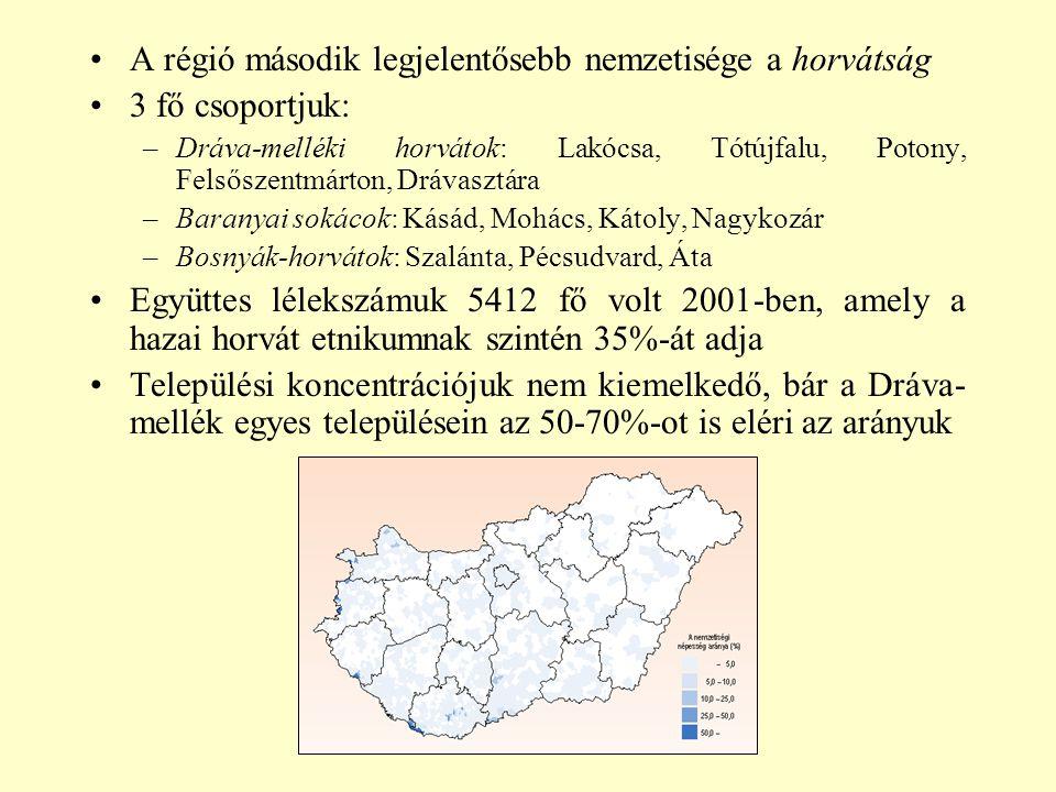 A régió második legjelentősebb nemzetisége a horvátság