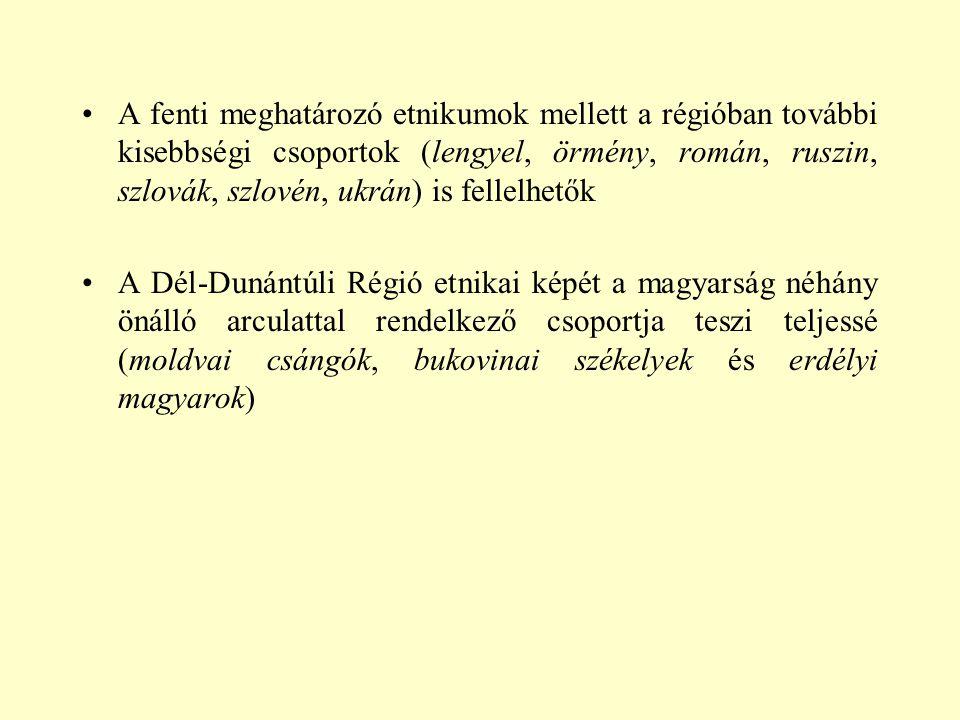 A fenti meghatározó etnikumok mellett a régióban további kisebbségi csoportok (lengyel, örmény, román, ruszin, szlovák, szlovén, ukrán) is fellelhetők