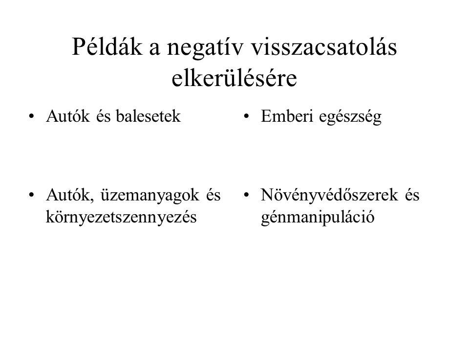 Példák a negatív visszacsatolás elkerülésére