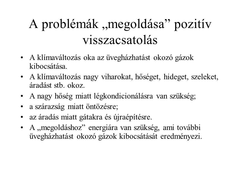 """A problémák """"megoldása pozitív visszacsatolás"""