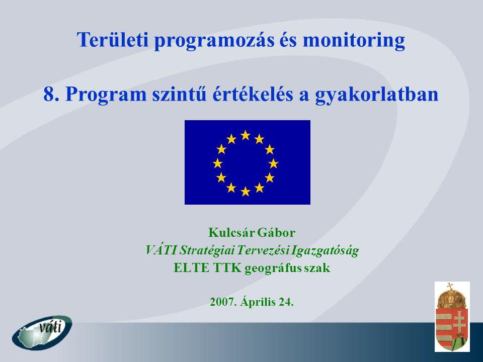 VÁTI Stratégiai Tervezési Igazgatóság ELTE TTK geográfus szak