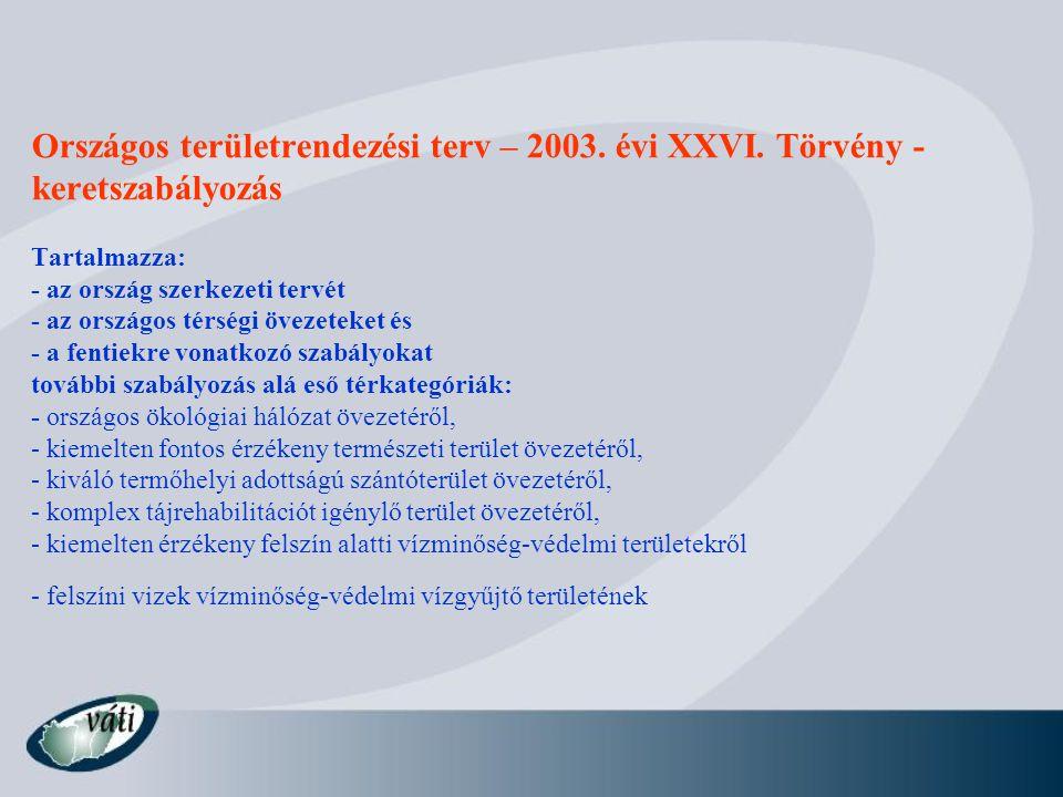 Országos területrendezési terv – 2003. évi XXVI
