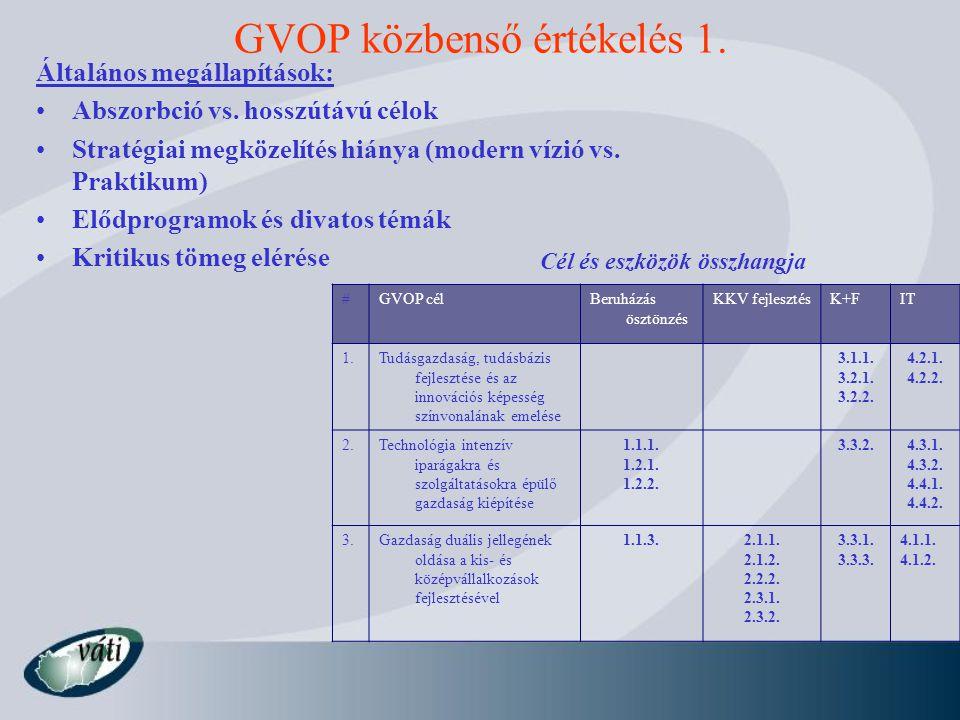 GVOP közbenső értékelés 1.