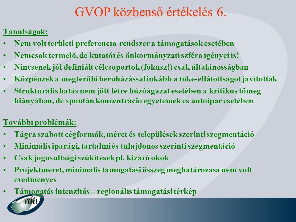 GVOP közbenső értékelés 6.