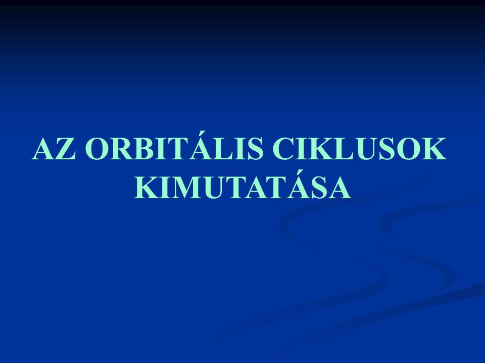 AZ ORBITÁLIS CIKLUSOK KIMUTATÁSA
