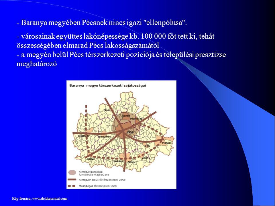 Baranya megyében Pécsnek nincs igazi ellenpólusa .