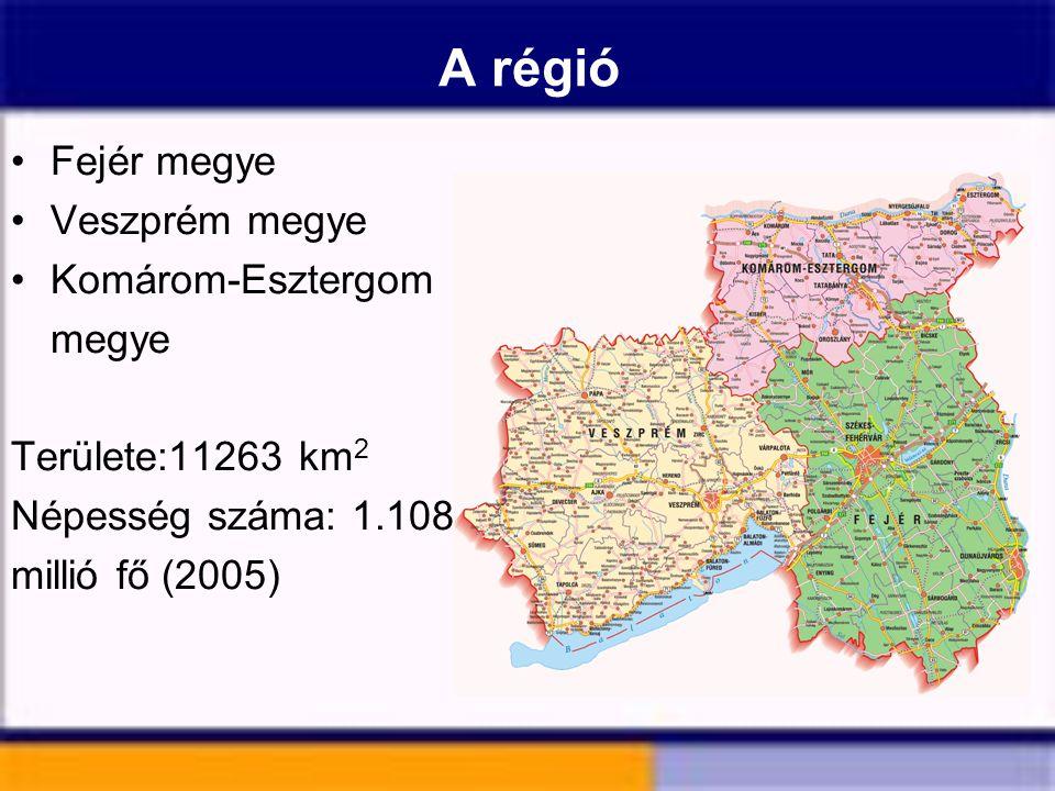 A régió Fejér megye Veszprém megye Komárom-Esztergom megye