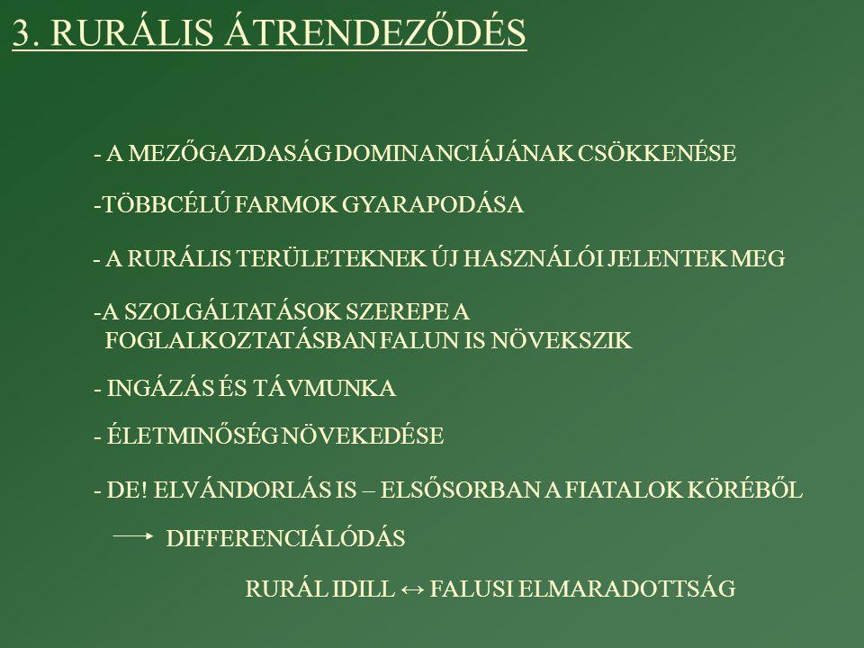 RURÁL IDILL ↔ FALUSI ELMARADOTTSÁG