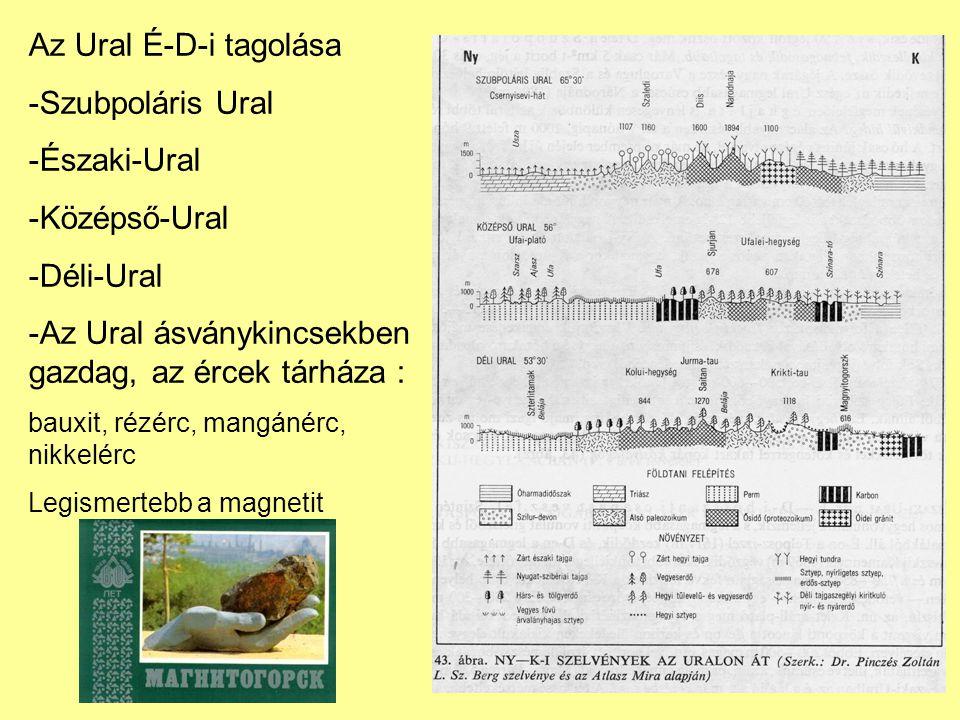 Az Ural ásványkincsekben gazdag, az ércek tárháza :