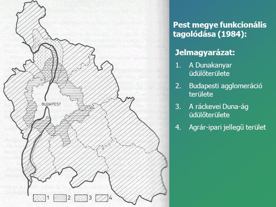 Pest megye funkcionális tagolódása (1984):