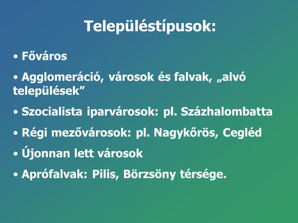 Településtípusok: Főváros