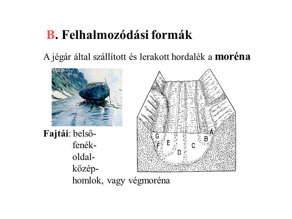 B. Felhalmozódási formák
