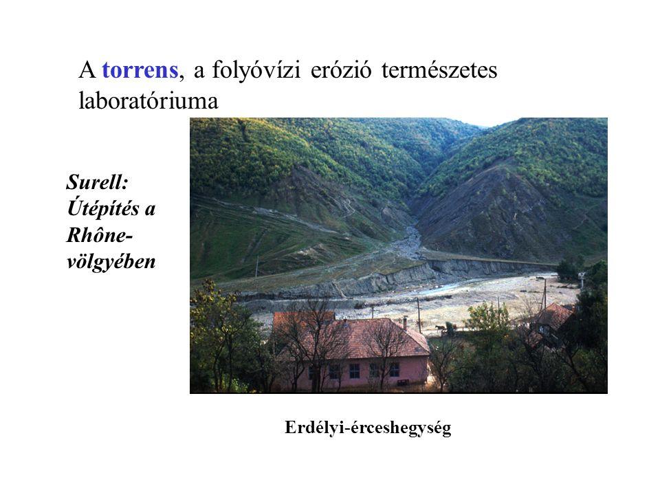 A torrens, a folyóvízi erózió természetes laboratóriuma