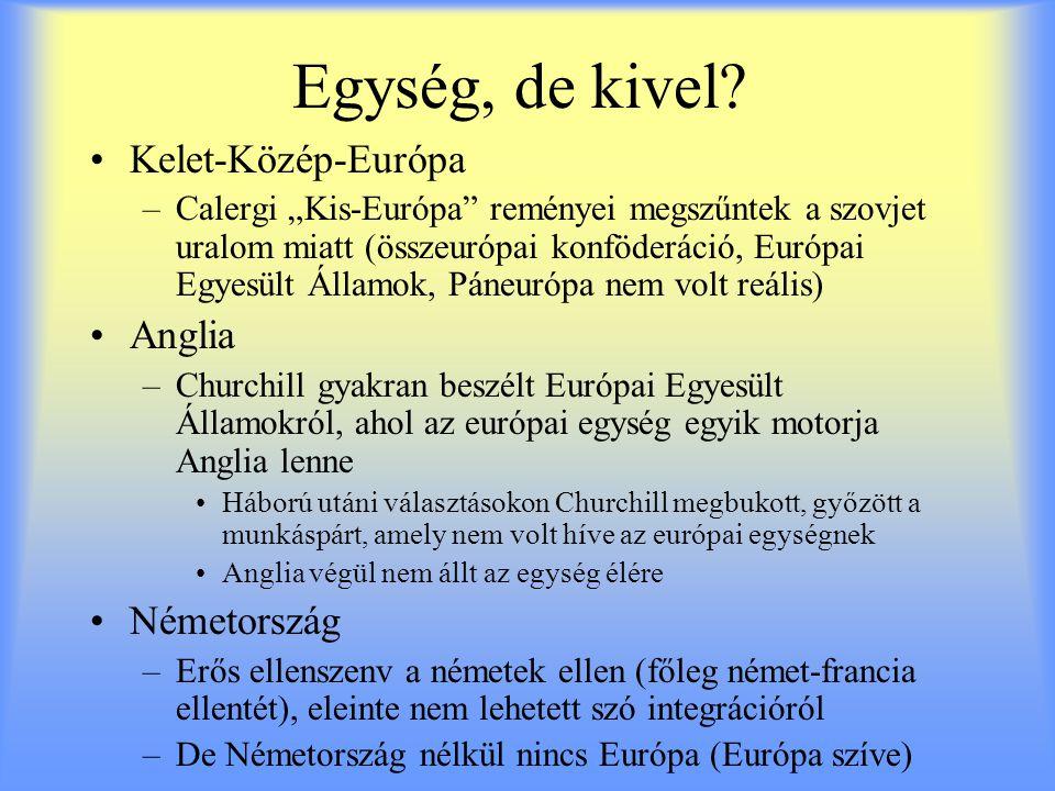 Egység, de kivel Kelet-Közép-Európa Anglia Németország