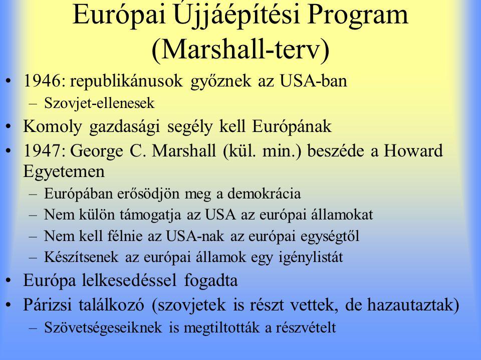 Európai Újjáépítési Program (Marshall-terv)