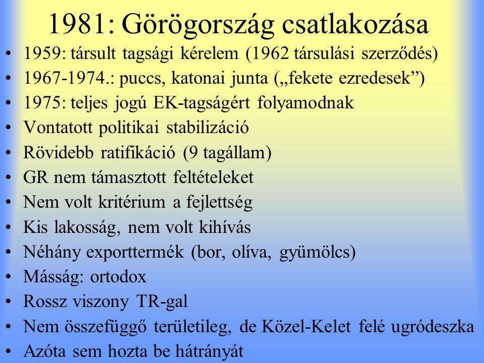 1981: Görögország csatlakozása