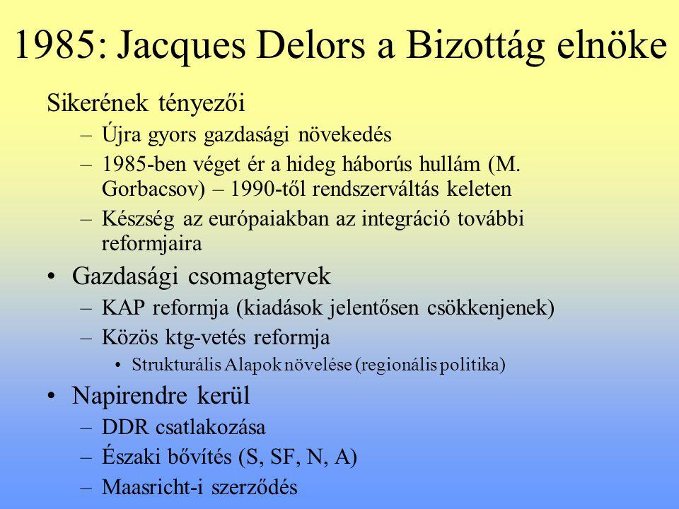 1985: Jacques Delors a Bizottág elnöke