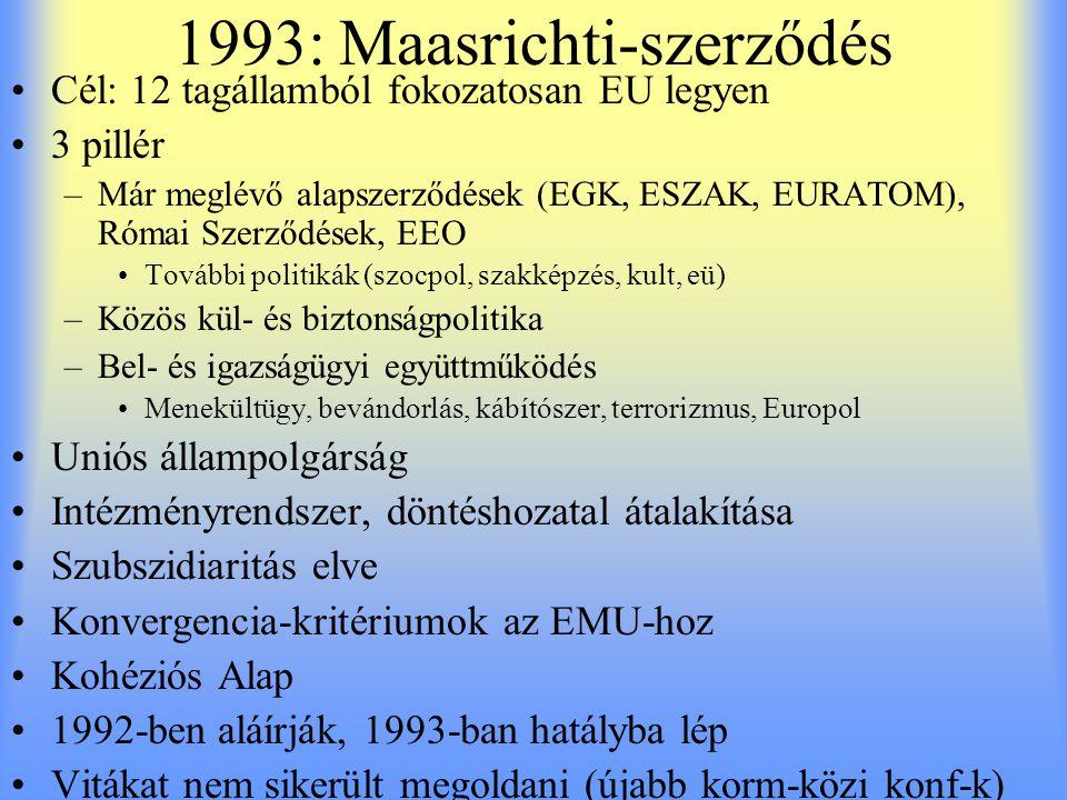 1993: Maasrichti-szerződés