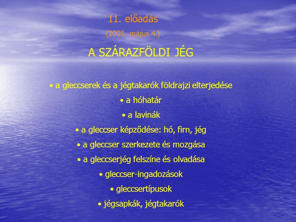 A SZÁRAZFÖLDI JÉG 11. előadás