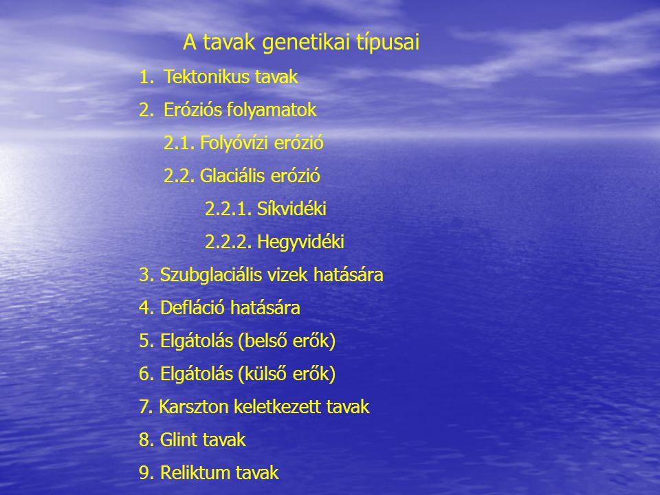 A tavak genetikai típusai
