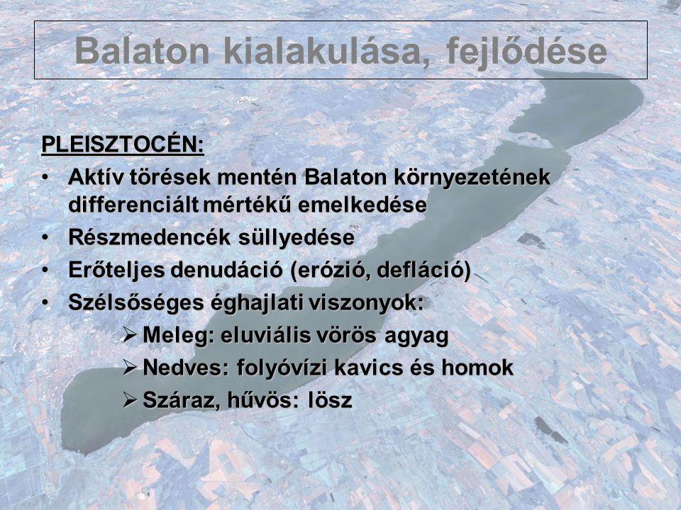 Balaton kialakulása, fejlődése