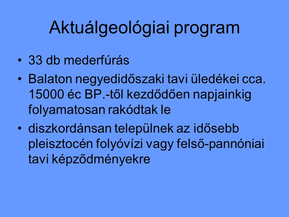 Aktuálgeológiai program