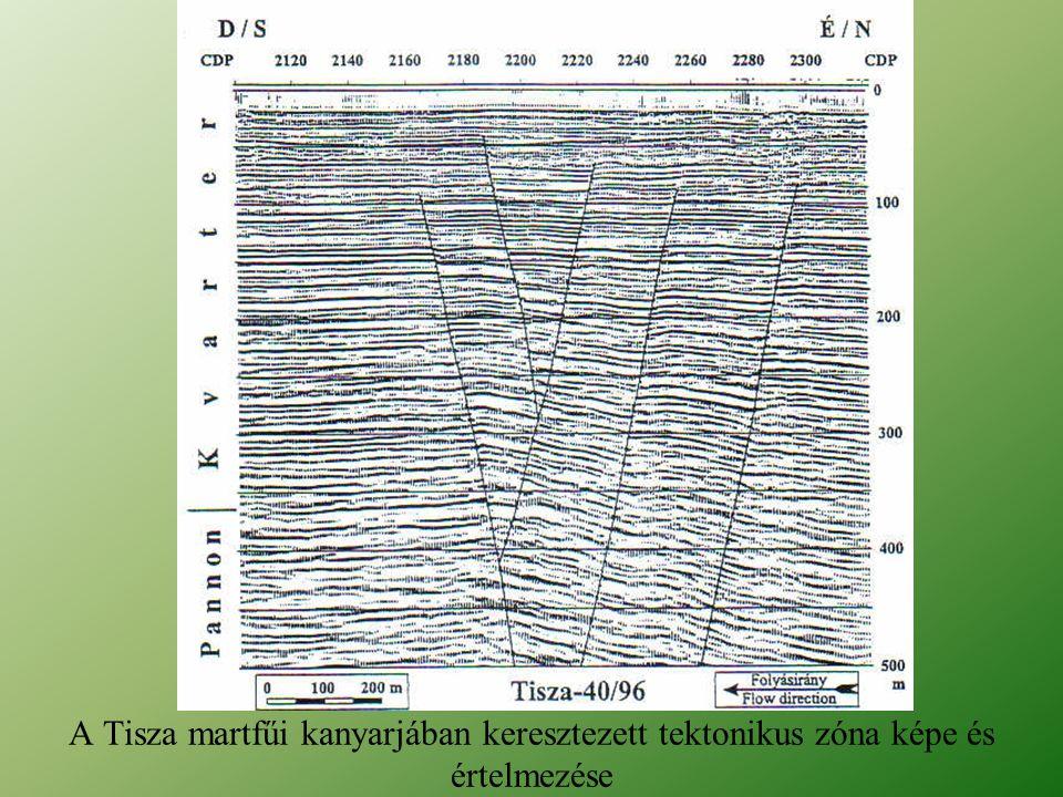 A Tisza martfűi kanyarjában keresztezett tektonikus zóna képe és értelmezése