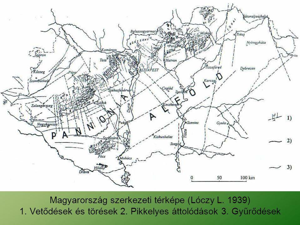 Magyarország szerkezeti térképe (Lóczy L. 1939)