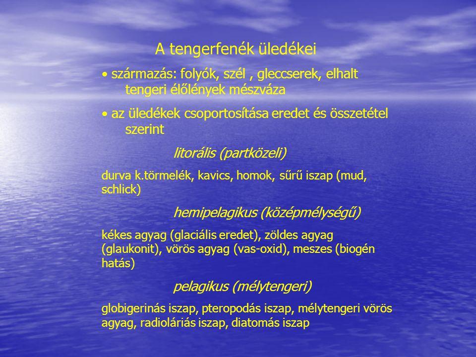 A tengerfenék üledékei