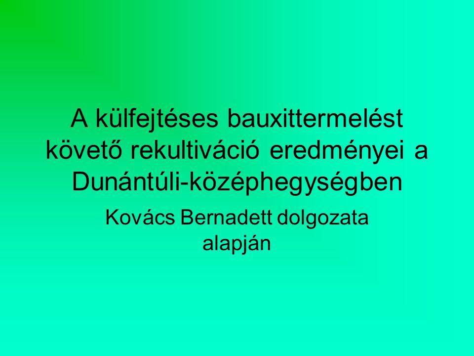 Kovács Bernadett dolgozata alapján