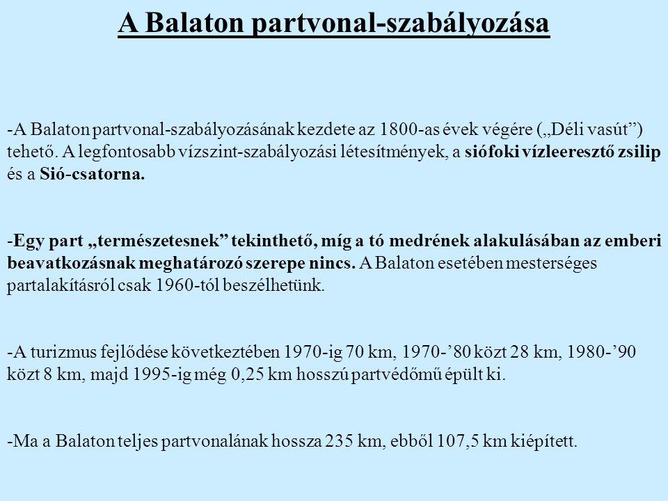 A Balaton partvonal-szabályozása