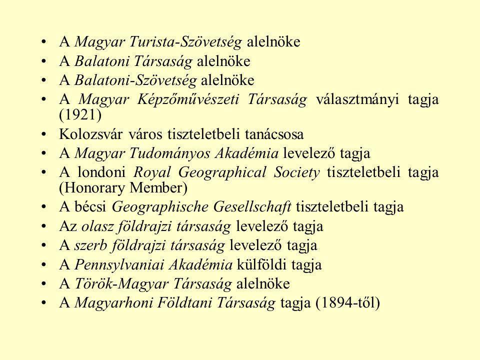A Magyar Turista-Szövetség alelnöke